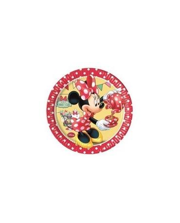 Tanieriky Minnie Mouse - Caffe 20 cm - 8 ks