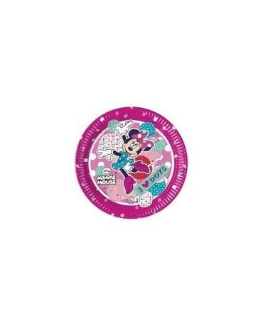Tanieriky Minnie Mouse - bodky 20 cm-8 ks