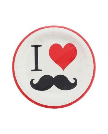 Tanieriky mustache - fúzy 18cm 8ks