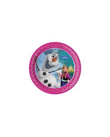 Tanieriky Frozen - Olaf 20 cm - 8 ks