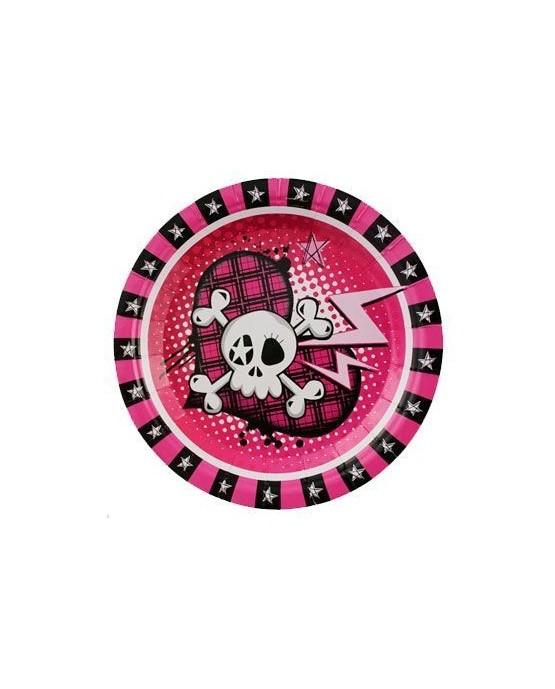 Tanieriky Rockové pirátky 23cm 6ks