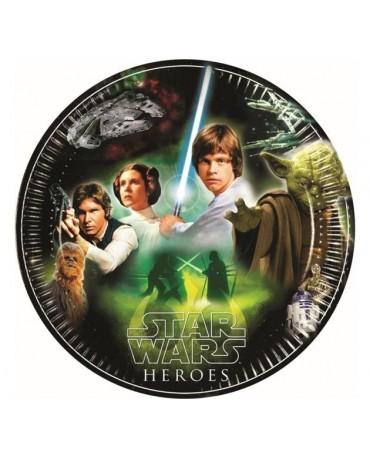 Tanieriky Star Wars - zel. 23 cm - 8 ks