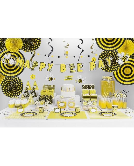 Tanieriky včielky 18 cm - 6ks