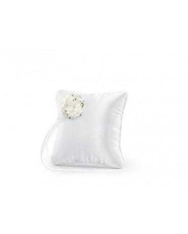 Vankúšik - biely s kytičkou kvetov 1ks
