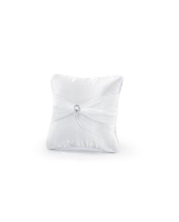 Vankúšik - biely s ozdobou 1ks