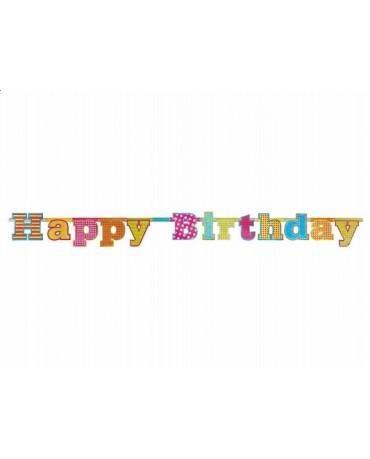 Banner Happy Birthday-farebný 1,66m