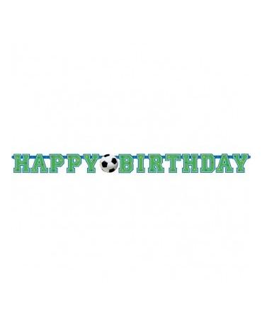 Banner Happy Birthday - futbal 130cm