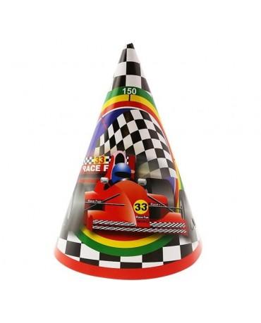 Klobúčiky Formula 6ks