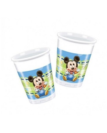 Poháre Mickey Mouse- Baby 200ml 8 ks