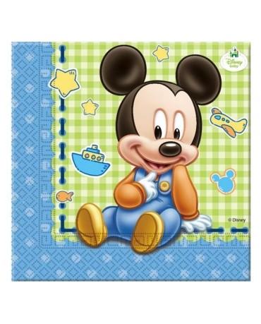 Servítky Mickey Mouse- Baby 33 cm - 20 ks