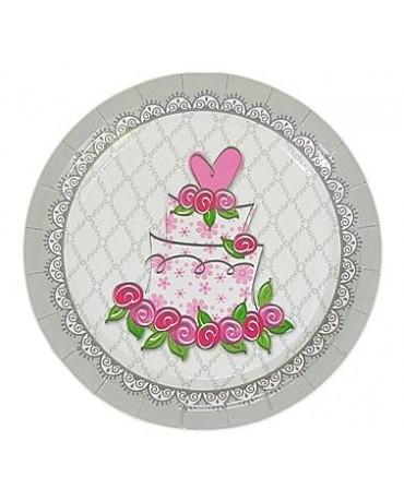 Tanieriky Svadobná torta - 23cm 6ks