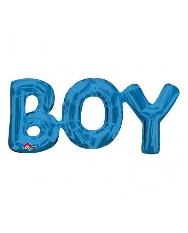 Fól. balón BOY modrý 50x22cm