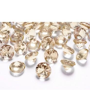 Konfety - zlaté diamanty 20mm 10ks