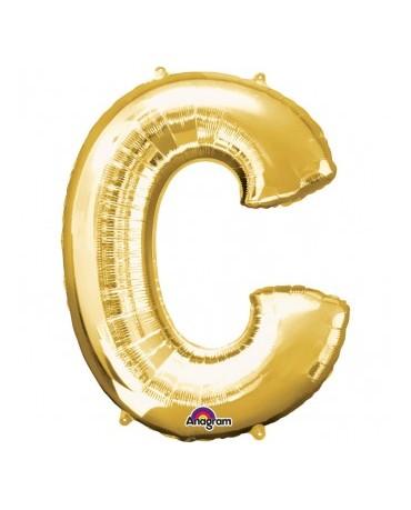Fól. balón - zlaté C 22x33cm