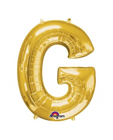 Fól. balón - zlaté G 22x33cm