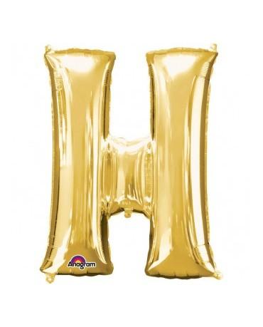 Fól. balón - zlaté H 25x33cm