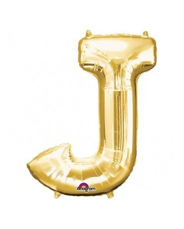 Fól. balón - zlaté J 27x33cm