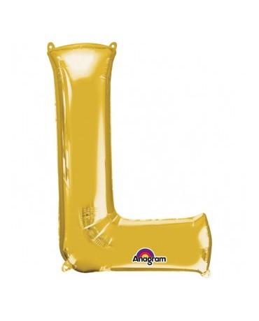 Fól. balón - zlaté L 20x33cm