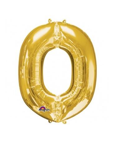 Fól. balón - zlaté O 25x33cm