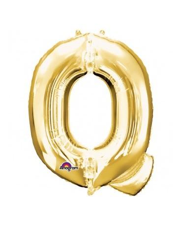 Fól. balón - zlaté Q 25x33cm