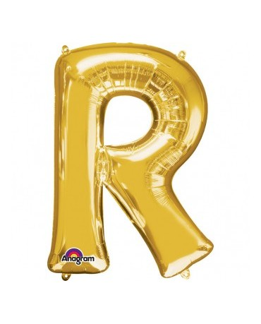 Fól. balón - zlaté R 22x33cm