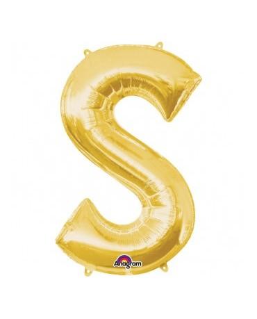 Fól. balón - zlaté S 20x33cm