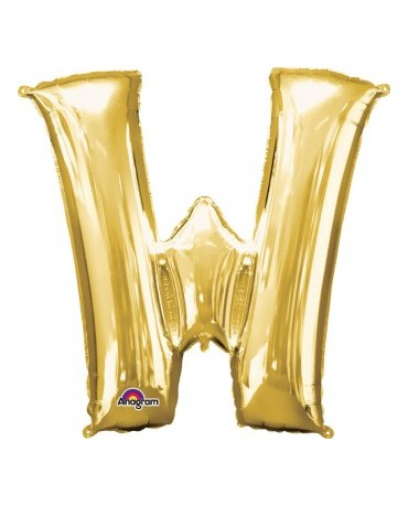 Fól. balón - zlaté W 33x33cm