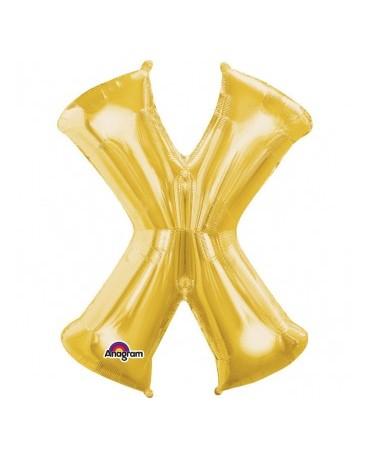 Fól. balón - zlaté X 27x35cm