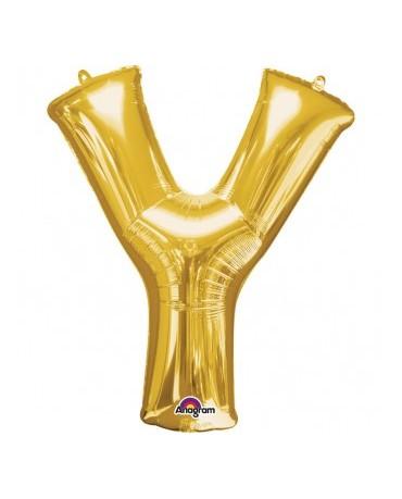 Fól. balón - zlaté Y 27x35cm