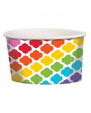 Misky - farebné vzory 12ks