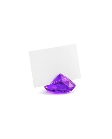 Stojan na menovky- diamant - fialový 10ks