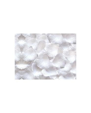 Dek. lupene ruží -biele 100ks