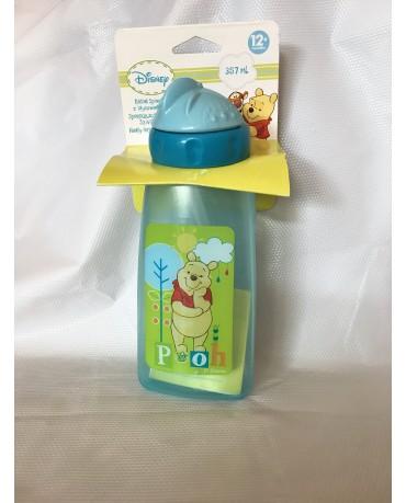Plast. fľaša Macko Pu 357 ml modrá