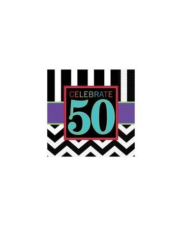 Servítky Celebrate 50    33cm 16ks