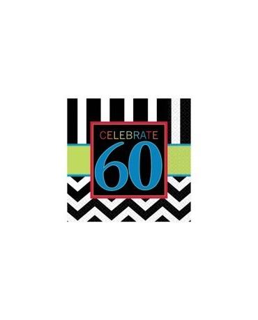 Servítky Celebrate 60    33cm 16ks