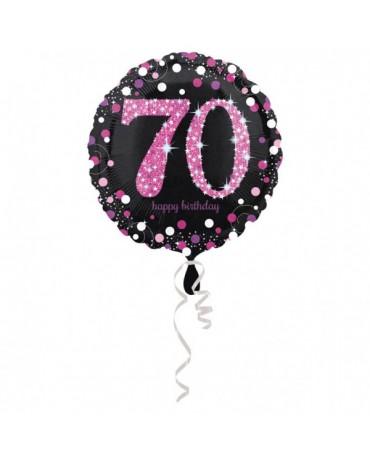 Fól. balón č. 70 - ružový 43cm