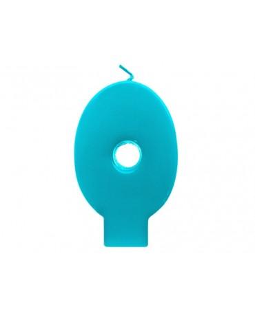 Sviečka - č.0 - tyrkysová 6,5cm