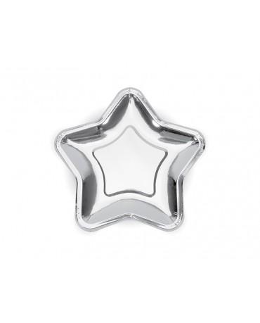 Tanieriky hviezda - strieb. 18cm 6ks