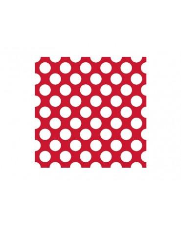 Servítky - červené -biel.bodky 33 cm - 20 ks