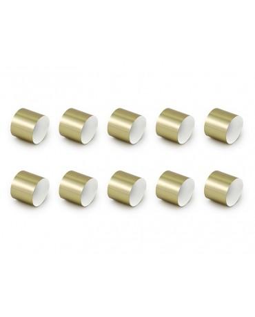 Krúžky na servítky - zlaté 10ks