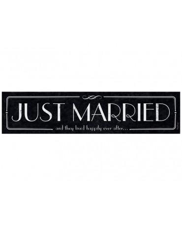 """Svad. dosky """"Just  Married""""- čierne-retro  10ks"""
