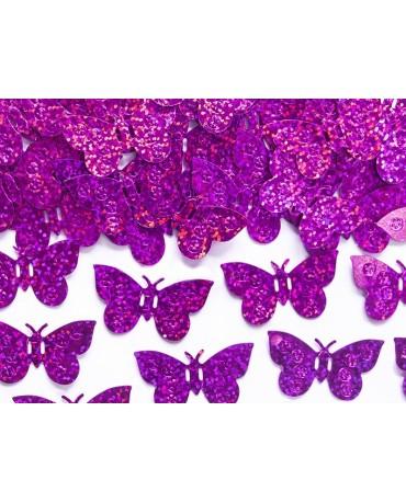 Konfety holog. motýle - ružové 15g