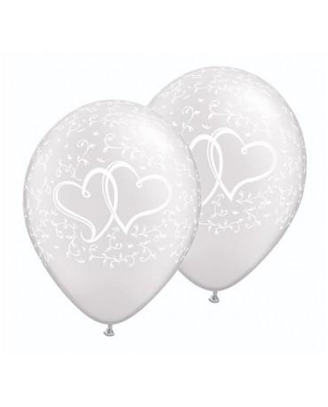 """Latexové balóny perleťové - srdcia 11"""" 10ks"""