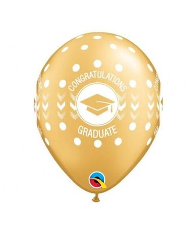 """Latexové balóny Congratulations -zlaté 11"""" 10ks"""