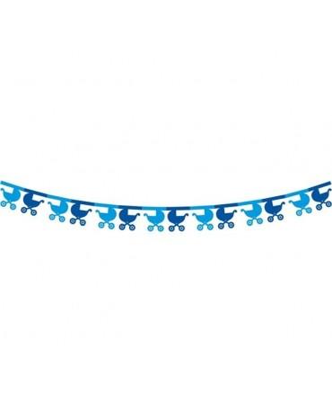 Girlanda kočíky- modré 3,6m