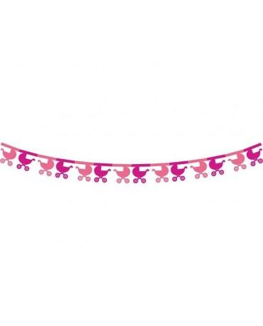 Girlanda kočíky- ružové 3,6m