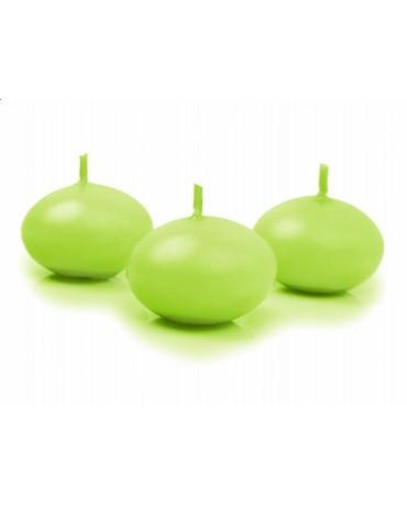 Sviečky- pláv. zelené 4cm 50ks