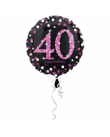 Fól. balón č. 40 - ružový 43cm