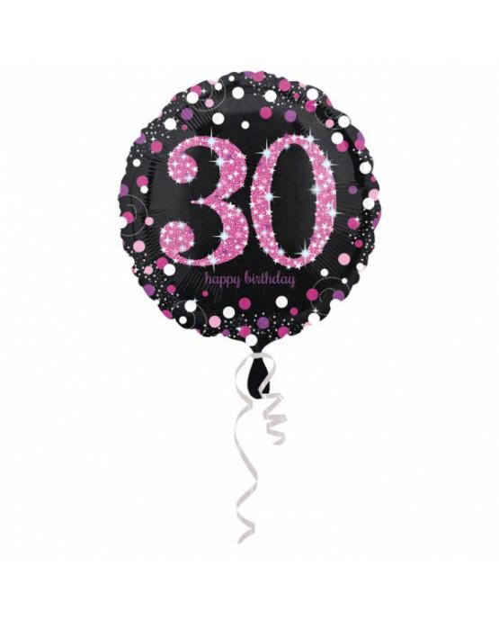 Fól. balón č. 30 - ružový 43cm