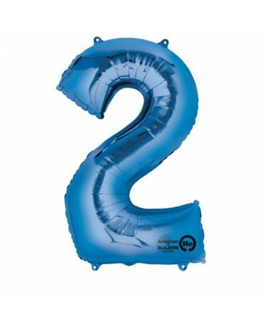 Fól. balón č. - 2 modrý 50x88cm